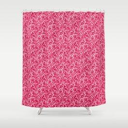 William Morris Thistle Damask, Fuchsia Pink Shower Curtain