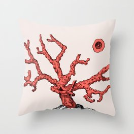 Living Coral Throw Pillow