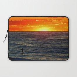 Paddle Boarding at Sunset Laptop Sleeve