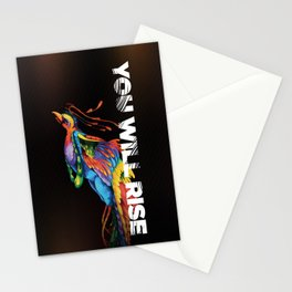 The Phoenix   You Will Rise Stationery Cards