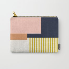 Sol Abstract Geometric Print in Multi Carry-All Pouch