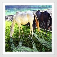 horses Art Prints featuring horses by  Agostino Lo Coco