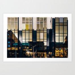 Surface Tension: Glasgow Centre Art Print