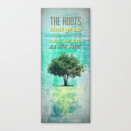 Roots of the Tree Canvas Print