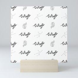 VIRGO // white Mini Art Print