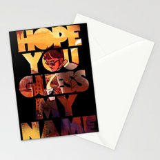 Hope you Guess my Name - Black Stationery Cards