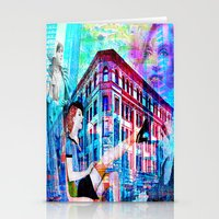 women Stationery Cards featuring Women by Ganech joe