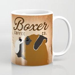 Boxer coffee company dog artwork by Stephen Fowler Coffee Mug