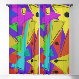 Cages at the Border #Abstract #Geometric #PoliticalArt Blackout Curtain