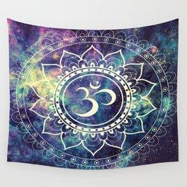 Om Mandala : Deep Pastels Galaxy Wall Tapestry