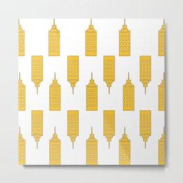 The Yellow Skyscraper Metal Print