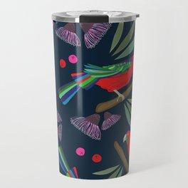 Exotic forest & parrots pattern design Travel Mug
