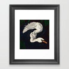Gwen was a Swan Framed Art Print