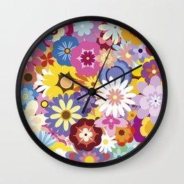 Floral Mix #1 Wall Clock