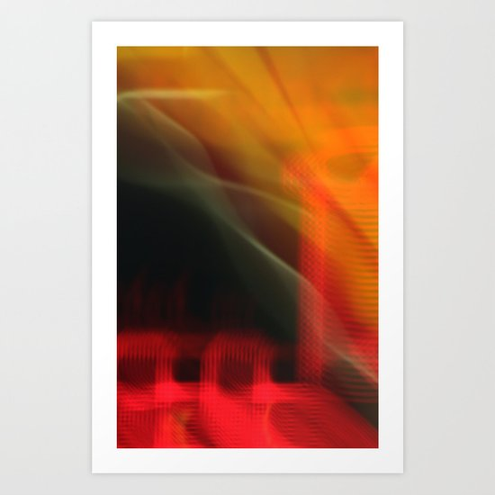 Abstract Colour Canvas (iPhone Cover) Art Print
