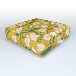 Vintage Inspired Floral Outdoor Floor Cushion