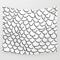 angel wings Wall Tapestries featuring angel wings by her art