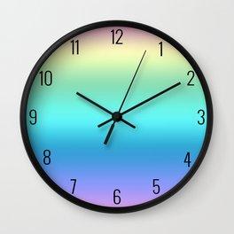 Pastel Gradient  Wall Clock