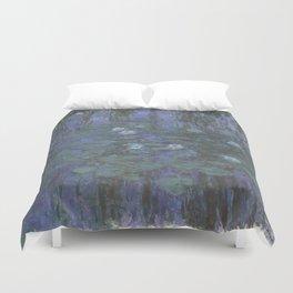 Claude Monet Water Lilies blue Duvet Cover