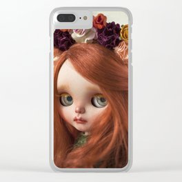 FLOWER CROWN Clear iPhone Case