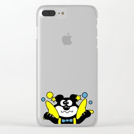 Nineties Chewing Gum Clear iPhone Case