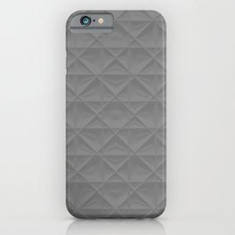 gray grid iPhone Case
