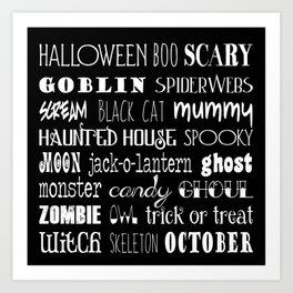 Halloween Celebration Art Print