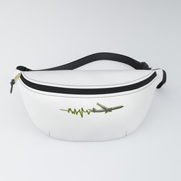 Airplane Heartbeat Pilot Flying Piloting Fanny Pack
