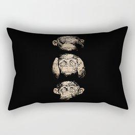 3 wise monkeys Rectangular Pillow