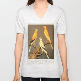 Orange Canaries  Unisex V-Neck