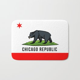 Chicago Republic (Black Bear 2) Bath Mat
