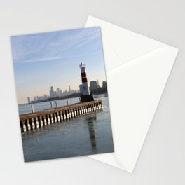 Montrose Harbor in the Winter Stationery Cards