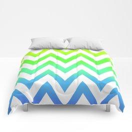 Rainbow Fade Chevron Comforters