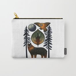 The Bear and the Barn Owl Carry-All Pouch