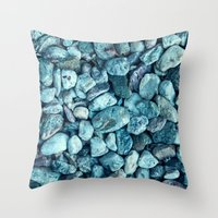 stone Throw Pillows featuring stone by Claudia Drossert