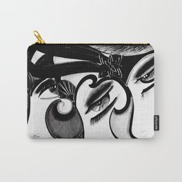 ART DECO MOD DOLLY FLAPPERS  TRIO Carry-All Pouch