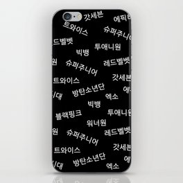 Kpop Group Names in Korean iPhone Skin