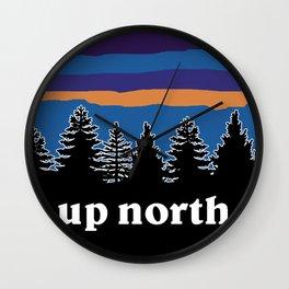 up north, blue & purple Wall Clock