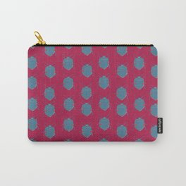 Blue Pink Beetle Carry-All Pouch