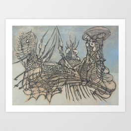 The Ice Fishers and Their Secret Art Print