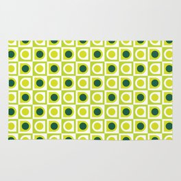 Geometric Pattern #210 (lime green) Rug