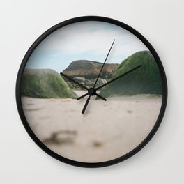 Mossy Rocks Wall Clock