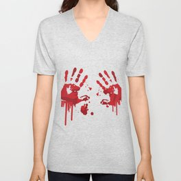 Blood Steins Halloween Unisex V-Neck