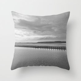 Weston-super-Mare black and white Throw Pillow