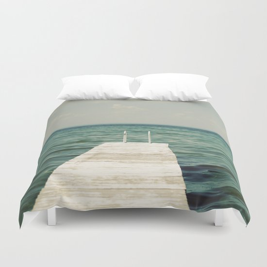 Mint Lake Escape  Duvet Cover