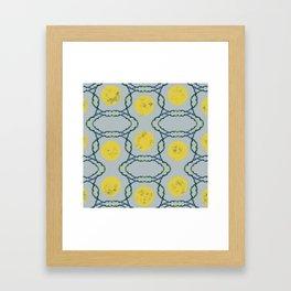 Gray Moon Spheres Pattern Framed Art Print