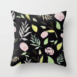 Simple and stylized flowers 8 Throw Pillow