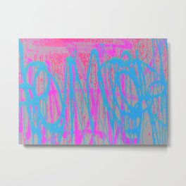 Street Language - Abstract Graffiti Painting Metal Print