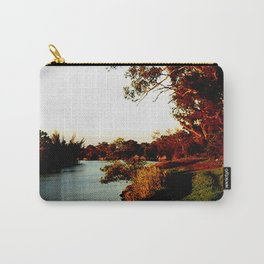 Sunsets on the river bank gum Trees Carry-All Pouch