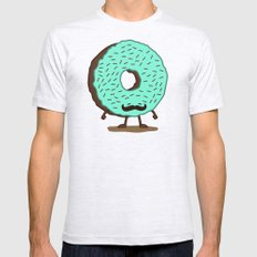 The Mustache Donut Ash Grey Mens Fitted Tee MEDIUM